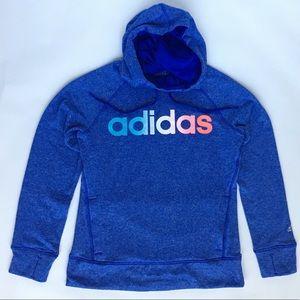 Adidas Women's Blue Hoodie Sweatshirt
